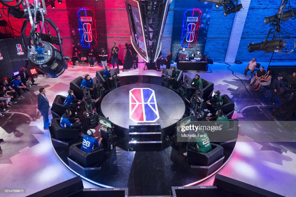 Mavs Gaming stares down the Bucks Gaming during Week 12 of the NBA 2K League on August 10, 2018 at the NBA 2K Studio in Long Island City, New York.