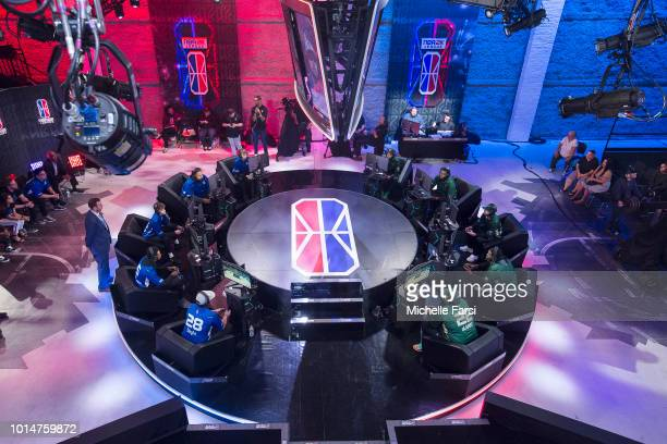 Mavs Gaming stares down the Bucks Gaming during Week 12 of the NBA 2K League on August 10 2018 at the NBA 2K Studio in Long Island City New York NOTE...