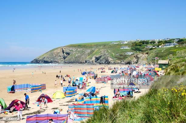 mawgan porth beach in Cornwall England UK