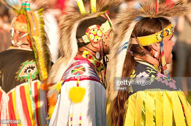 mawio'mi dancers - first nations stock pictures, royalty-free photos & images