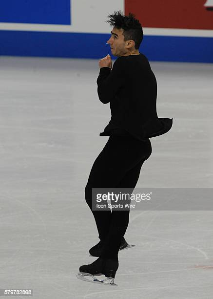 JANUARY 24 2016 Max Aaron competes in the men's Free Skate Program during the Prudential US Figure Skating Championships at the Xcel Energy Center in...