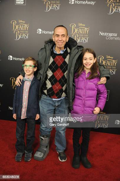 Max Aaron Gottfried Gilbert Gottfried and Lily Aster Gottfried attend the Beauty And The Beast New York screening at Alice Tully Hall Lincoln Center...