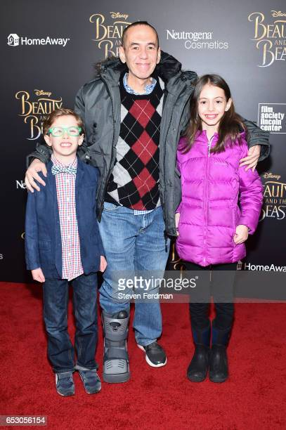 Max Aaron Gottfried Gilbert Gottfried and Lily Aster Gottfried attend the New York Screening of Beauty And The Beast at Alice Tully Hall on March 13...