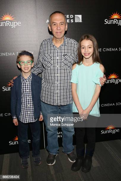 Max Aaron Gottfried Gilbert Gottfried and Lily Aster Gottfried attend Dr Jane Goodall Director Lu Chuan And Producers Roy Conli And Brian Leith...