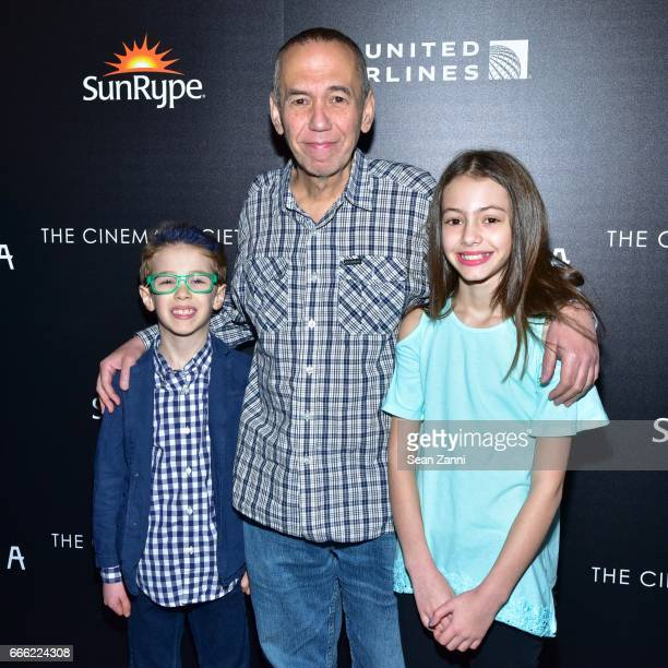 Max Aaron Gottfried Gilbert Gottfried and Lily Aster Gottfried attend Disneynature and The Cinema Society Host the Premiere of Born in China at the...