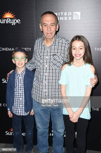 Max Aaron Gottfried Gilbert Gottfried Lily Aster Gottfried attend the Disneynature With The Cinema Society Host The Premiere Of Born In China at...
