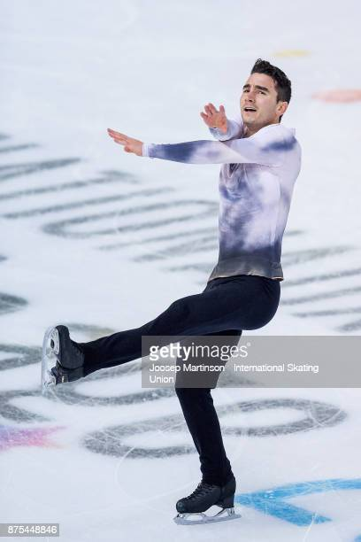 Max Aaron of the United States competes in the Men's Short Program during day one of the ISU Grand Prix of Figure Skating at Polesud Ice Skating Rink...