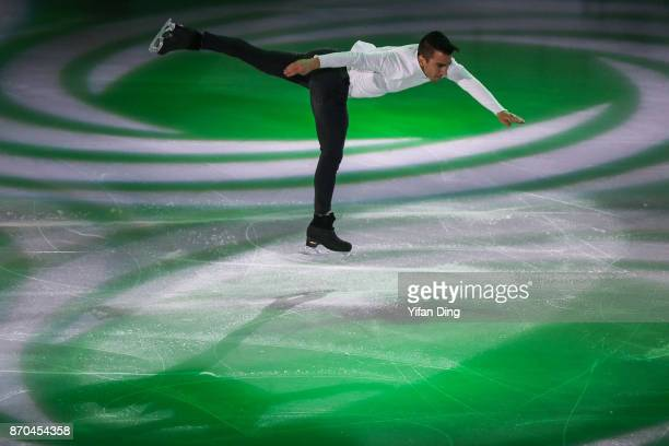 Max Aaron of the United States performs during exhibition program of Audi Cup of China ISU Grand Prix of Figure Skating 2017 at Beijing Capital...