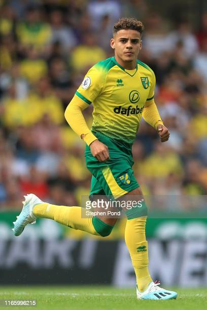 Max Aarons of Norwich City during the PreSeason Friendly match between Norwich City and Toulouse at Carrow Road on August 03 2019 in Norwich England