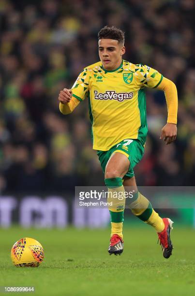 Max Aarons of Norwich City during the Sky Bet Championship match between Norwich City and Nottingham Forest at Carrow Road on December 26 2018 in...