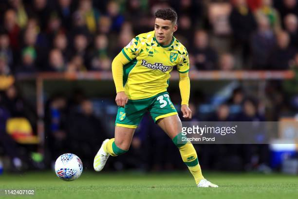 Max Aarons of Norwich City during the Sky Bet Championship match between Norwich City and Reading at Carrow Road on April 10 2019 in Norwich England