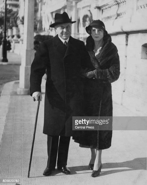 Max Aitken 1st Baron Beaverbrook with Lady Diana Cooper the wife of Duff Cooper 1935