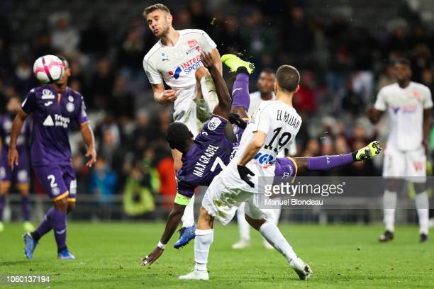 Max Alain Gradel of Toulouse during the Ligue 1 match between Toulouse and Amiens at Stadium Municipal on November 10, 2018 in Toulouse, France.