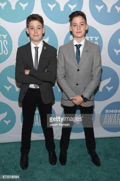 Max and Harvey Mills attend the 9th Annual Shorty Awards at PlayStation Theater on April 23 2017 in New York City
