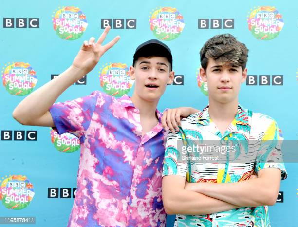 Max and Harvey pose during BBC Summer Social Festival 2019 at Croxteth Hall Country Park on August 03 2019 in Liverpool England