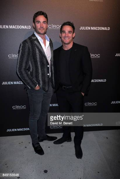 Max and Thom Evans attend Julien Macdonald Spring Summer 2018 Show sponsored by Ciroc at The Bankside Vaults on September 18 2017 in London England