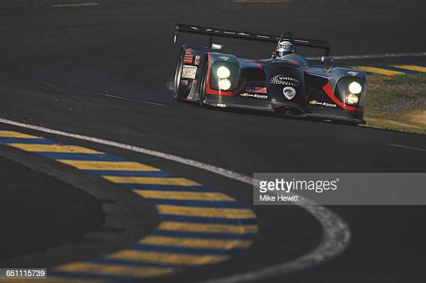 Max Angelelli of Italy drives the LMP Panoz Motor Sports Panoz LMP1 Roadster S Ford V8 during the ACO European Le Mans Series 24 Hours of Le Mans on...