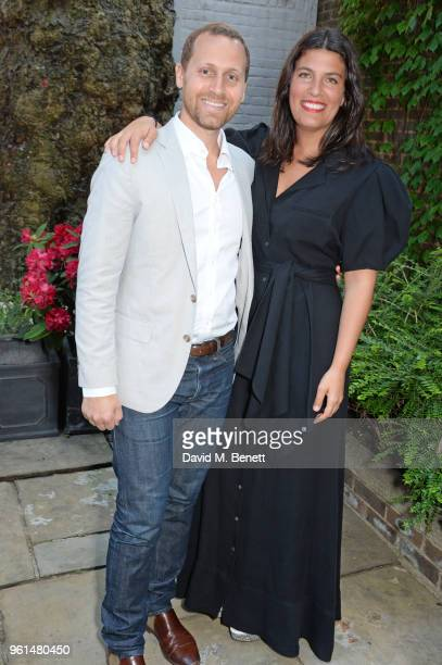 Max Assoulin and Rosie Assoulin attend the NETAPORTER dinner hosted by Alison Loehnis to celebrate the launch of Rosie Assoulin's exclusive...