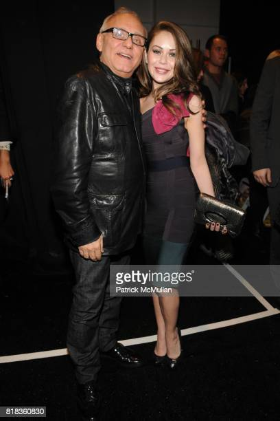 Max Azria and Alexis Dziena attend HERVE LEGER by Max Azria Fall 2010 Collection at Promenade on February 14 2010 in New York City