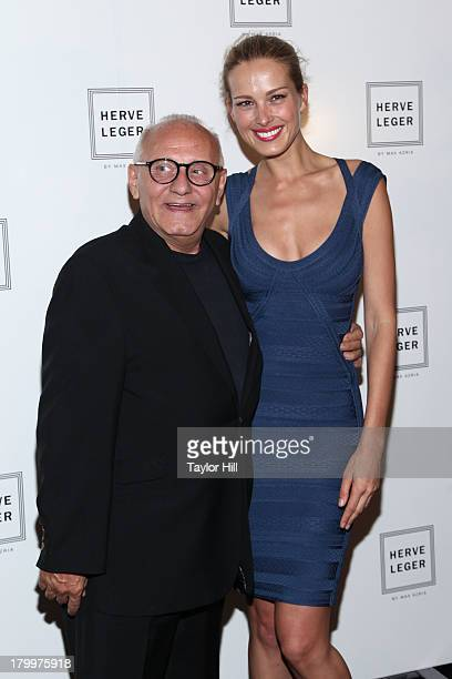 Max Azria and Petra Nemcova attends the Herve Leger By MAX AZRIA Spring 2014 fashion show at The Theater at Lincoln Center on September 7 2013 in New...