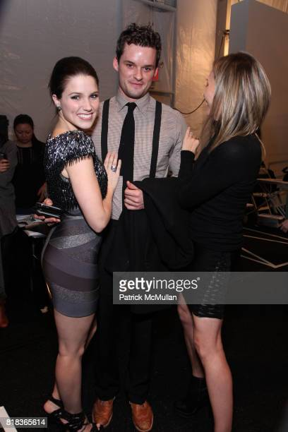 Max Azria Austin Nichols and Alexis Dziena attend HERVE LEGER By Max Azria Fall 2010 Collection at Promenade on February 14 2010 in New York City