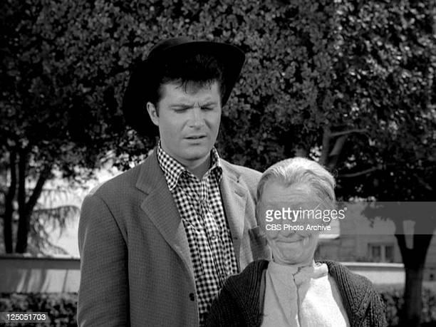 Max Baer Jr as Jethro Bodine and Irene Ryan as Daisy Moses in THE BEVERLY HILLBILLIES episode Granny's Garden Original airdate October 9 1963 Image...
