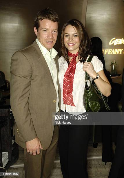 Max Beesley and Susie Amy during Tiffany and Co Host Private Screening of Sketches of Frank Gehry for the Launch of the Frank Gehry Collection After...