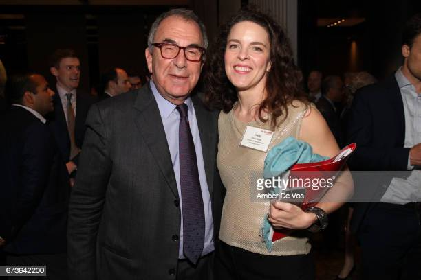 Max Berger and Emily Mead attend Her Justice 2017 Annual Photography Auction Benefit at Grand Hyatt New York on April 26 2017 in New York City