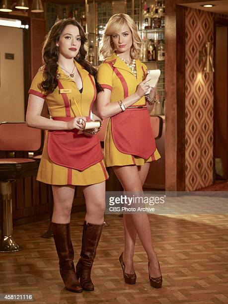 Max Black and Caroline Channing on the show 2 Broke Girls on the CBS Television Network