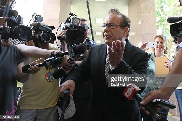 Max Blecher attorney for Donald Sterling arrives to Los Angeles Superior Court for the nonjury trial over whether Shelly Sterling has the authority...