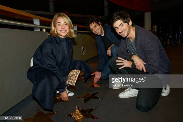 """Max Boublil , Anthony Marciano and Alice Isaaz attend the """"Play"""" premiere on October 17, 2019 in Lille, France."""