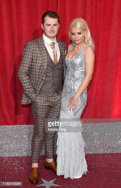 Max Bowden and Danielle Harold attend the British Soap Awards at The Lowry Theatre on June 01 2019 in Manchester England