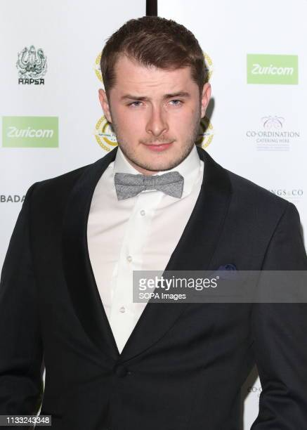 Max Bowden arrives at the National Film Awards 2018 at the Porchester Hall