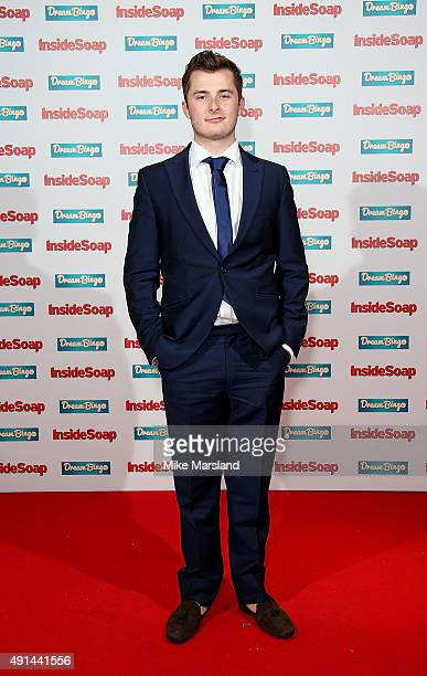 Max Bowden attends the Inside Soap Awards at DSKTRT on October 5 2015 in London England