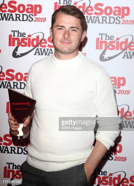 Max Bowden attends the Inside Soap Awards at the Sway Nightclub in London