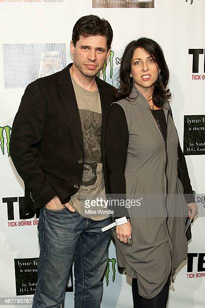 Max Brooks and guest attend Lyme Light The Concert Benefiting The TickBorne Disease Alliance at El Rey Theatre on May 1 2014 in Los Angeles California