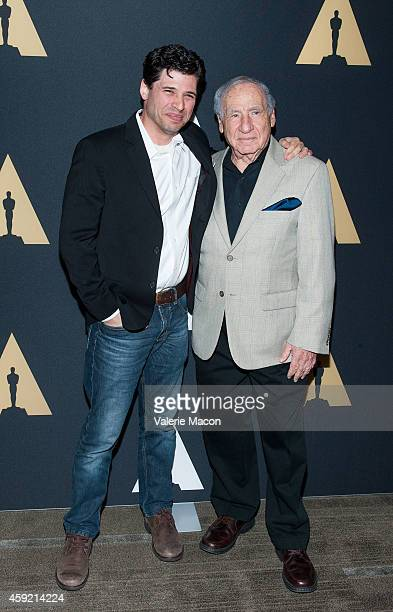 Max Brooks and Mel Brooks arrive at the Academy Of Motion Picture Arts And Sciences' 20th Anniversary Screening Of The Shawshank Redemption at AMPAS...