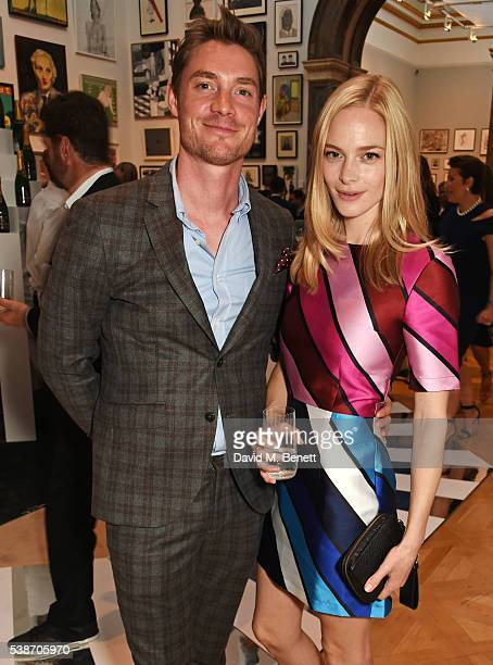 Max Brown and Annabelle Horsey attend a VIP preview of the Royal Academy of Arts Summer Exhibition 2016 on June 7 2016 in London England