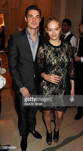 Max Brown and Annabelle Horsey attend the Glamour 10th Birthday Dinner at Claridges on March 3 2011 in London England
