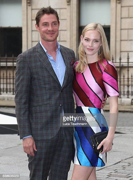 Max Brown and Annabelle Horsey attend the VIP preview of the Royal Academy of Arts Summer Exhibition 2016 at Royal Academy of Arts on June 7 2016 in...