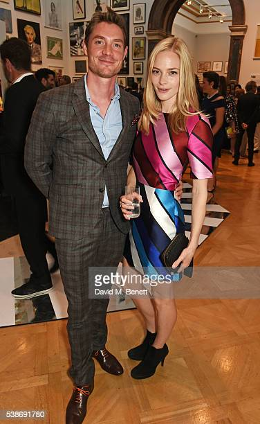 Max Brown and Annabelle Horsey attendsa VIP preview of the Royal Academy of Arts Summer Exhibition 2016 on June 7 2016 in London England