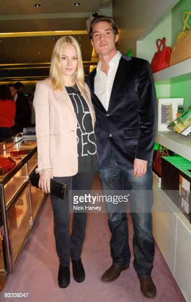Max Brown and Arabella Horsey attend party to celebrate launch of new Prada book on November 18 2009 in London England