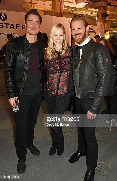 Max Brown Annabelle Horsey and Alistair Guy attend the Belstaff presentation during London Fashion Week Men's January 2017 collections at Ambika P3...