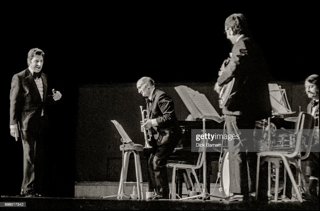 Max Bygraves performs at Fairfield Halls, Croydon, 1976.