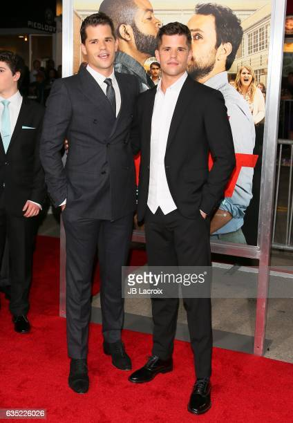 Max Carver and Charlie Carver attend the premiere of Warner Bros Pictures' 'Fist Fight' on February 13 2017 in Westwood California