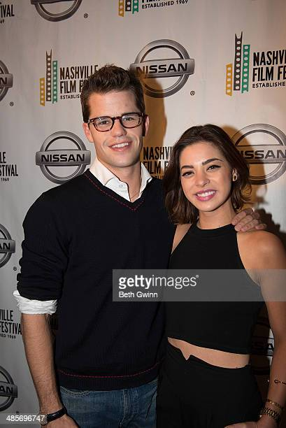 Max Carver and Gia Mantegna of the film 'Undiscovered Gyrl' attend day 3 of the 2014 Nashville Film Festival at Regal Green Hills on April 19 2014 in...