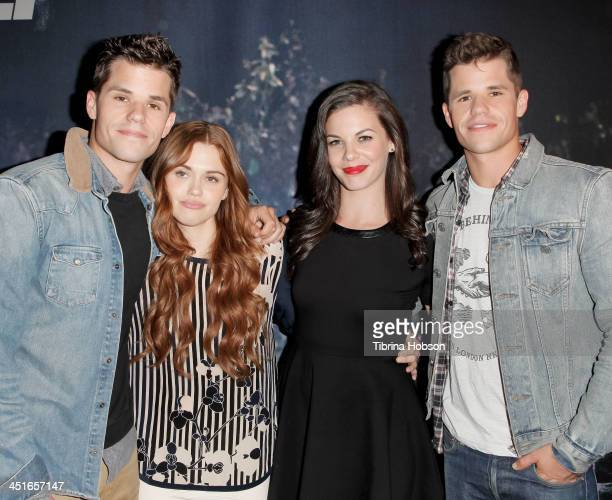Max Carver Holland Roden Haley Webb and Charlie Carver attends the MTV's 'Teen Wolf' fan appreciation event at Burbank Airport Marriott on November...