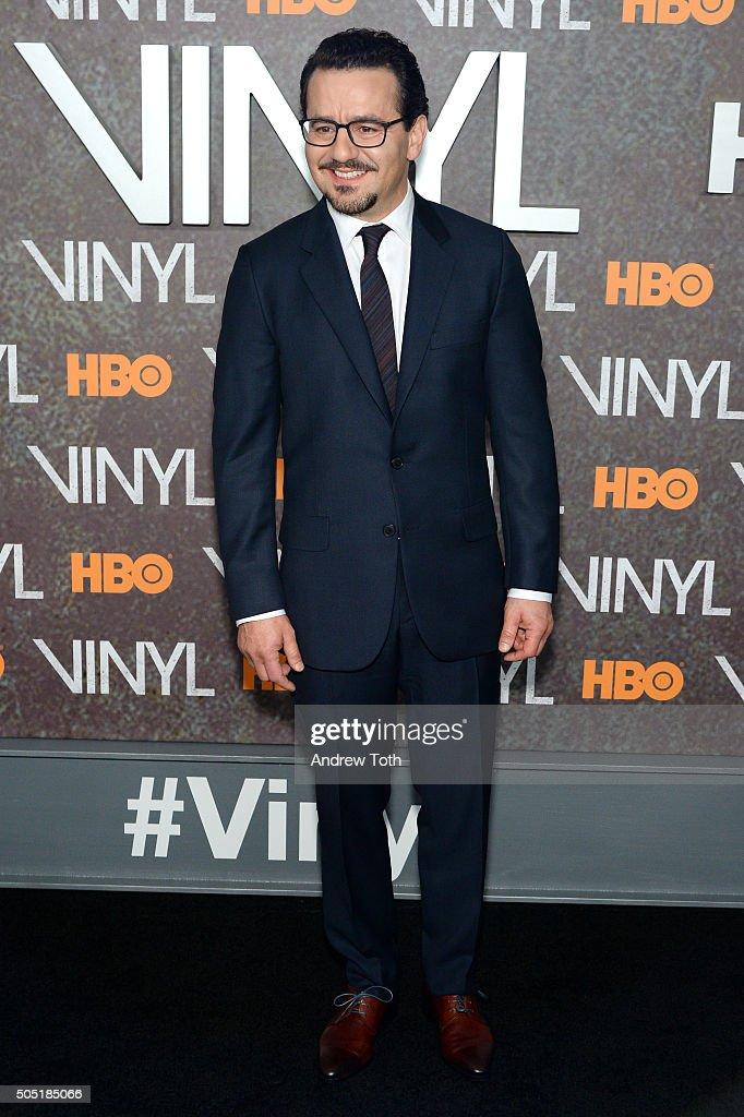 Max Casella attends the 'Vinyl' New York premiere at Ziegfeld Theatre on January 15, 2016 in New York City.