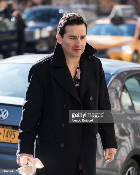 Max Casella is seen filming 'The Rhythm Section' on January 14 2018 in New York New York