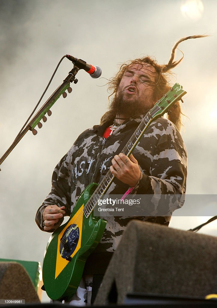 Max Cavalera of Cavalera Conspiracy performs live on day 3 of the 39th Pinkpop Festival on June 1, 2008 in Landgraaf, Netherlands.